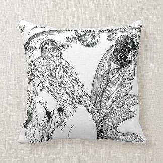 """""""Peony Fairy""""   Designer Home Decor Pillow"""