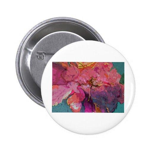 peony floral pin redondo 5 cm