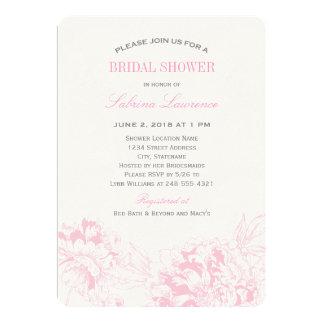 Peony floral rosado nupcial de la invitación el |