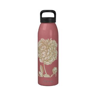 Peony Flower Botanical Drinking Bottle