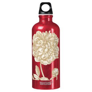 Peony Flower Botanical Water Bottle