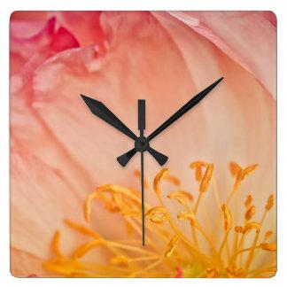 Peony Flower Wall Clocks