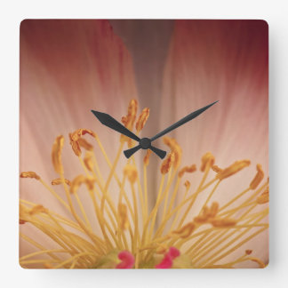 Peony Flower Wall Clock