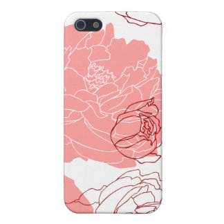 Peony Flower Motif Art Speck iPhone Case