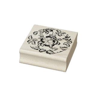 Peony flower motif silhouette art stamp