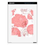 Peony Flower Motif Zazzle Skin iPad 3 Decal