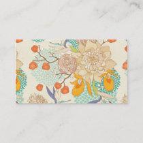Peony Flower Pattern Business Card