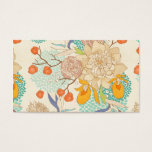 Peony Flower Pattern Business Card at Zazzle