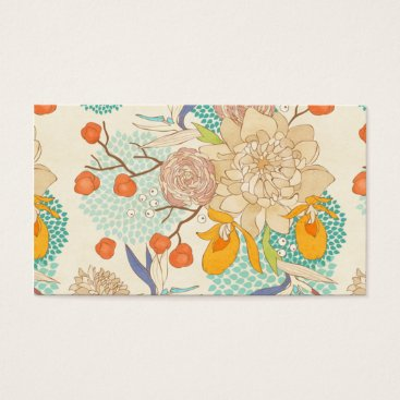 Professional Business Peony Flower Pattern Business Card