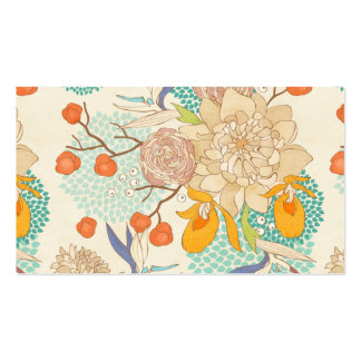 Peony Flower Pattern Double-Sided Standard Business Cards (Pack Of 100)