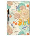 Peony Flower Pattern Dry-Erase Whiteboard