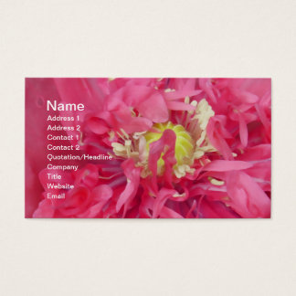Peony flower petals business card