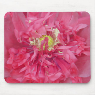 Peony flower petals mouse pad