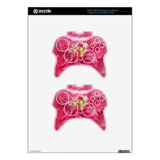Peony flower petals xbox 360 controller decal