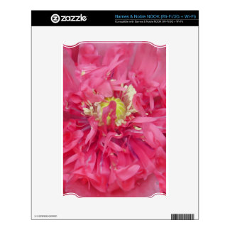 Peony flower petals decal for the NOOK