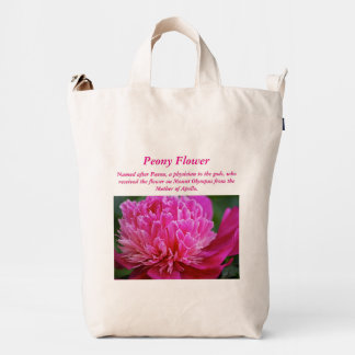 Peony Flower Represents.... Duck Bag