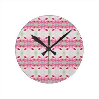Peony Flower Round Clock