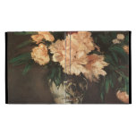 Peony Flowers by Manet iPad Case