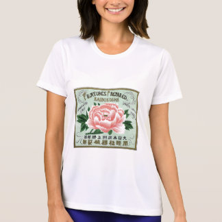 Peony Flowers Vintage Japanese Silk Label T-shirt