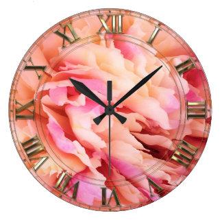Peony Fluff Large Clock