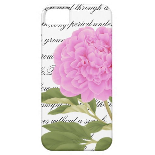Peony iPhone 5 Case-Mate Case, Flower, Botanica iPhone 5 Cover