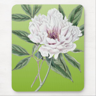 Peony Lime Mouse Pad