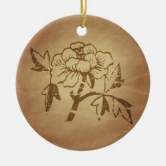 Peony Love and Affection Chinese Magic Charms Ceramic Ornament