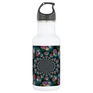 Peony Mandala Stainless Steel Water Bottle