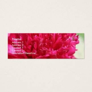 Peony Mini Business Card