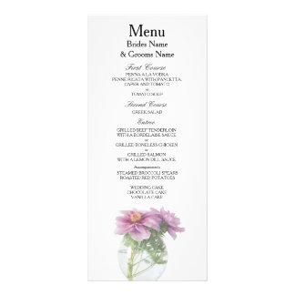 Peony Modern Simple Elegant WeddingIdeas Rack Card