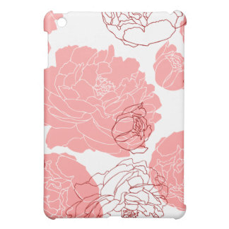 Peony Motif Art Speck Case iPad Mini Covers