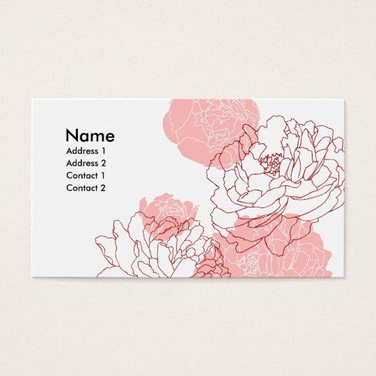 Peony Motif Profile Card