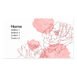 Peony Motif Profile Card Business Cards