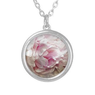 Peony Round Pendant Necklace