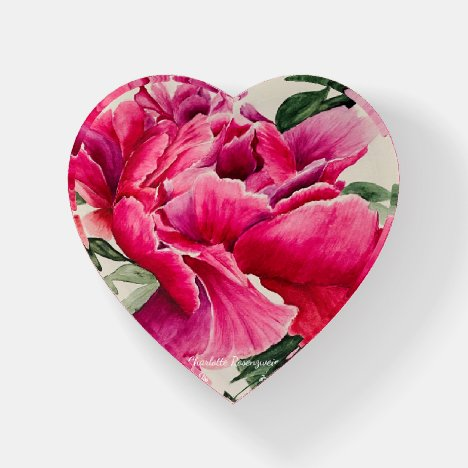 Peony Painting Paperweight
