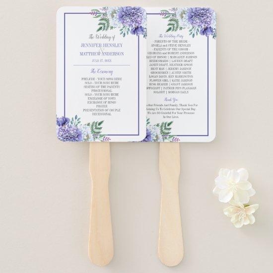 Peony Passion Floral Wedding Program Fans