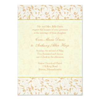 Peony Pearl Wedding Invitation