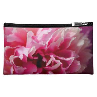 Peony Pink Floral Cosmetic Bag Medium