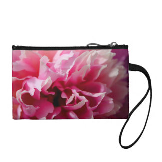 Peony Pink Floral Key Coin Clutch