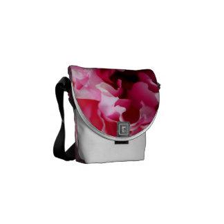 Peony Pink Floral Messenger Bag