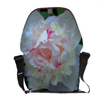 Peony Pretty White Messenger Bag