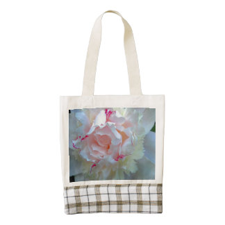 Peony Pretty White Zazzle HEART Tote Bag