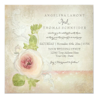 Peony Ranunculus Elegant Beautiful Floral Vintage Card