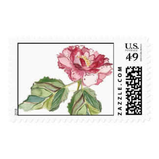 Peony (Raspberry) Postage Stamp