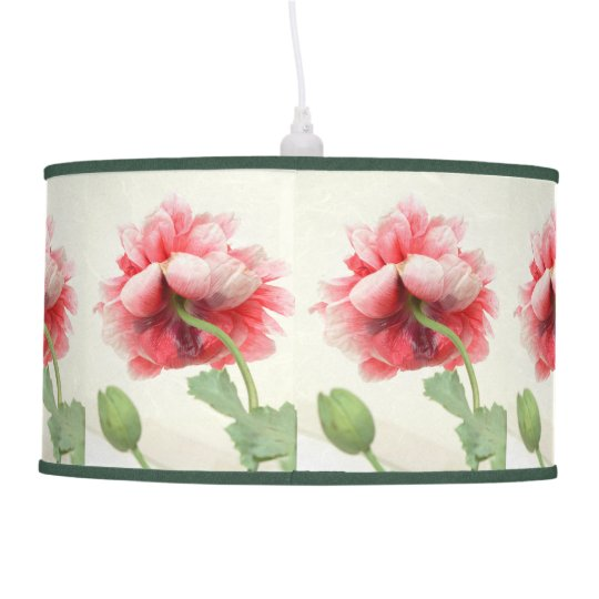 Peony Rice Paper Lampshade Pendant Style Zazzle Com