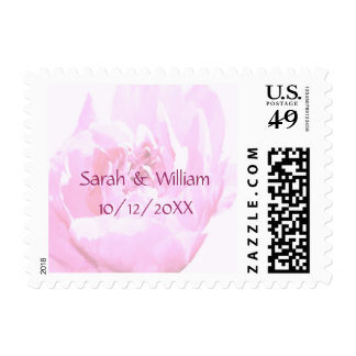 Peony Romantica Save the Date Wedding Stamps