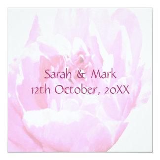 Peony Romantica Wedding 5.25x5.25 Square Paper Invitation Card