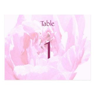 Peony Romantica Wedding Table Numbers Postcard