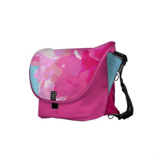 Peony rosado bolsa de mensajeria