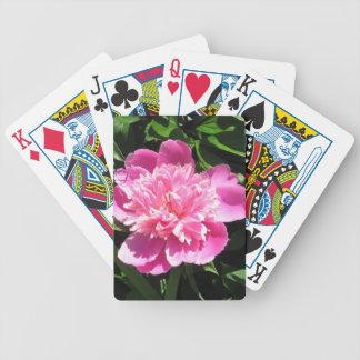 Peony rosado cartas de juego